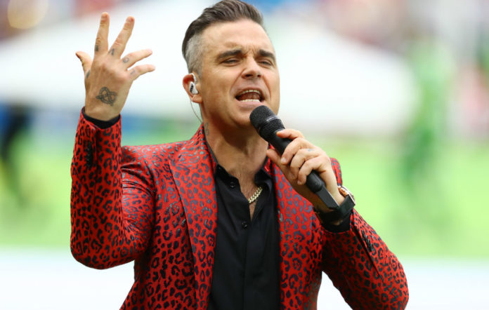 Robbie Williams sings at the 2018 World Cup opening ceremony in Russia