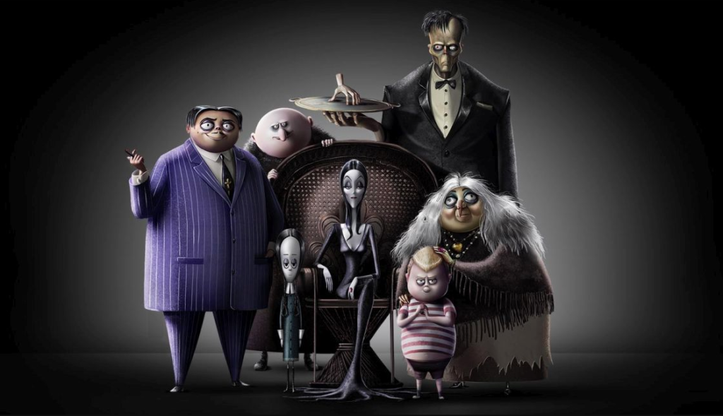 Addams family animated cast