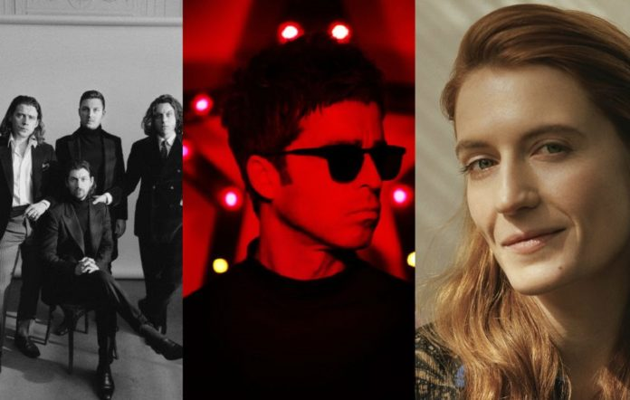 Arctic Monkeys, Noel Gallagher and Florence Welch from Florence And The Machine