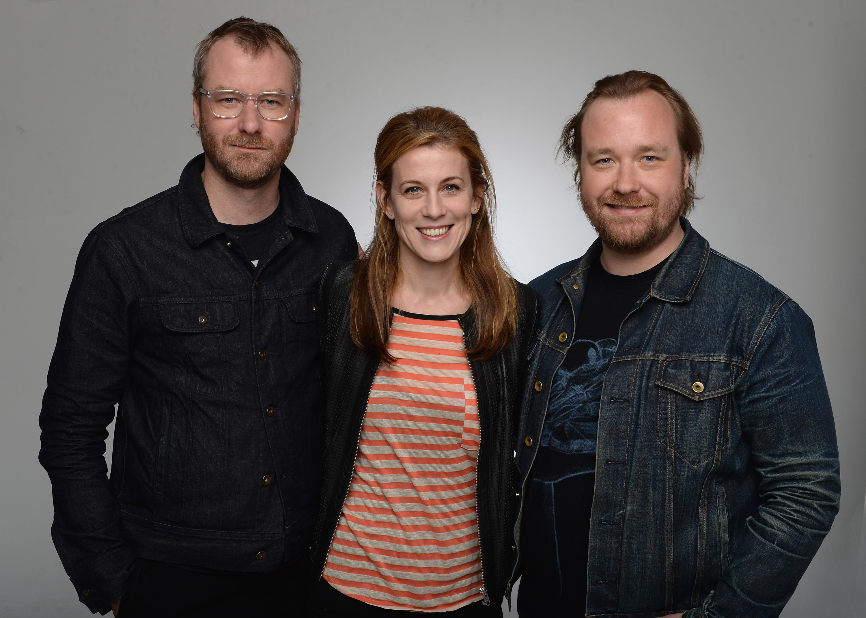 Matt Berninger, Carin Besser and Tom Berninger (Photo by Andrew H. Walker/Getty Images)