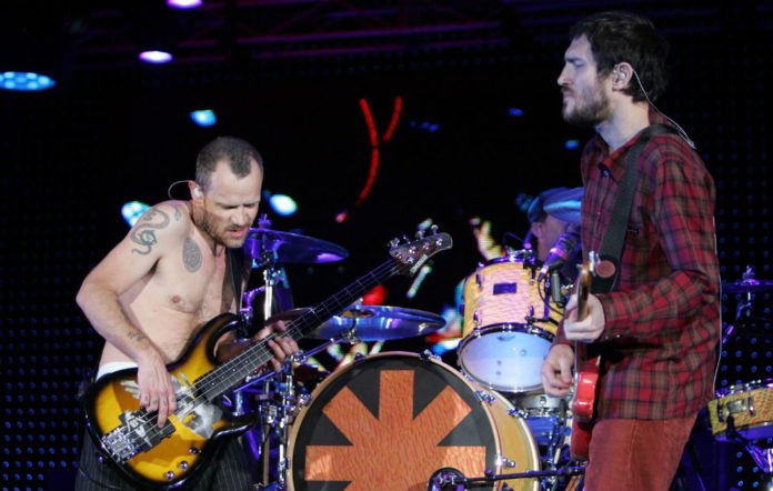 Flea and John Frusciante