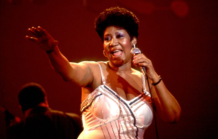 Aretha Franklin performing live