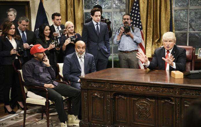 SNL parody Trump's meeting with Kanye West
