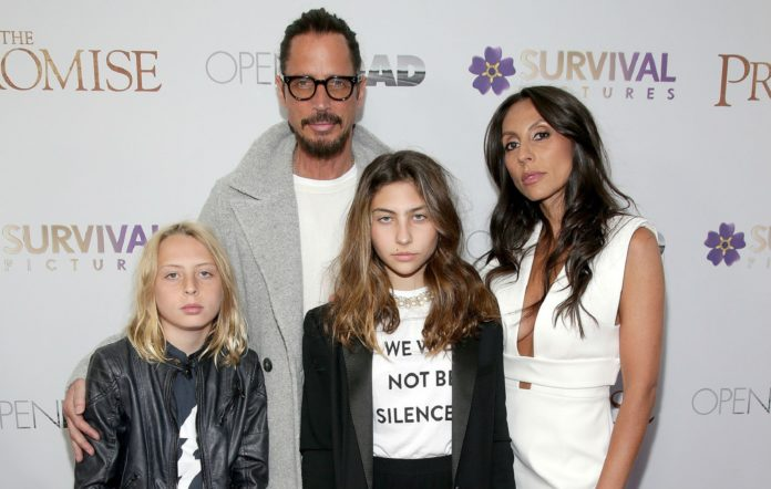 Chris Cornell with his family in 2017