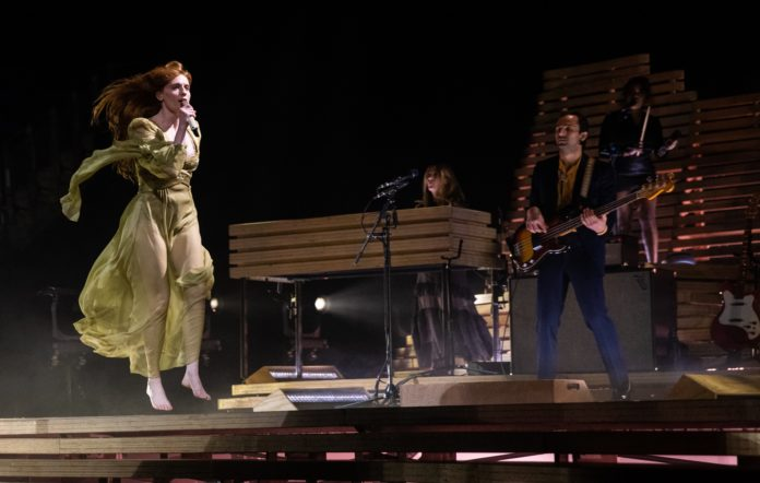 Florence Welch of Florence And The Machine performs at The O2 Arena on November 22