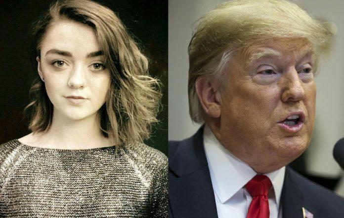 Maisie Williams and Donald Trump