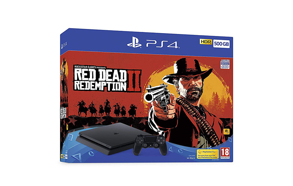PlayStation 4 Console and Red Dead Redemption 2
