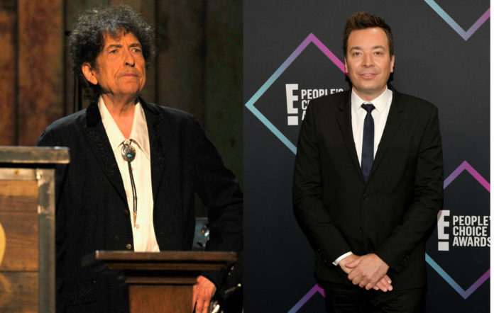 Bob Dylan makes appearance on Jimmy Fallon without saying a word