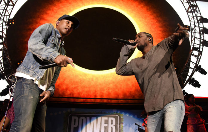 Pharrell Williams and Kendrick Lamar