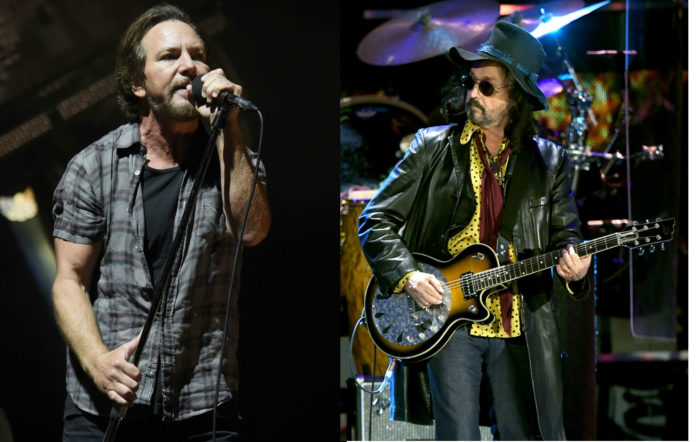 Watch Eddie Vedder jam with Mike Campbell in a bathroom