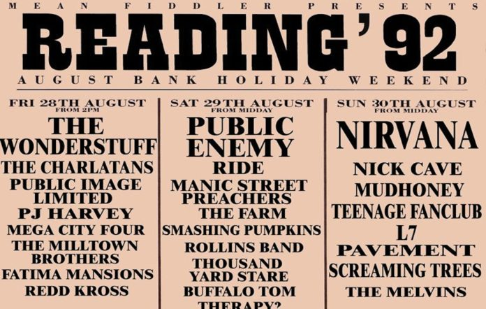 Reading & Leeds poster 1992