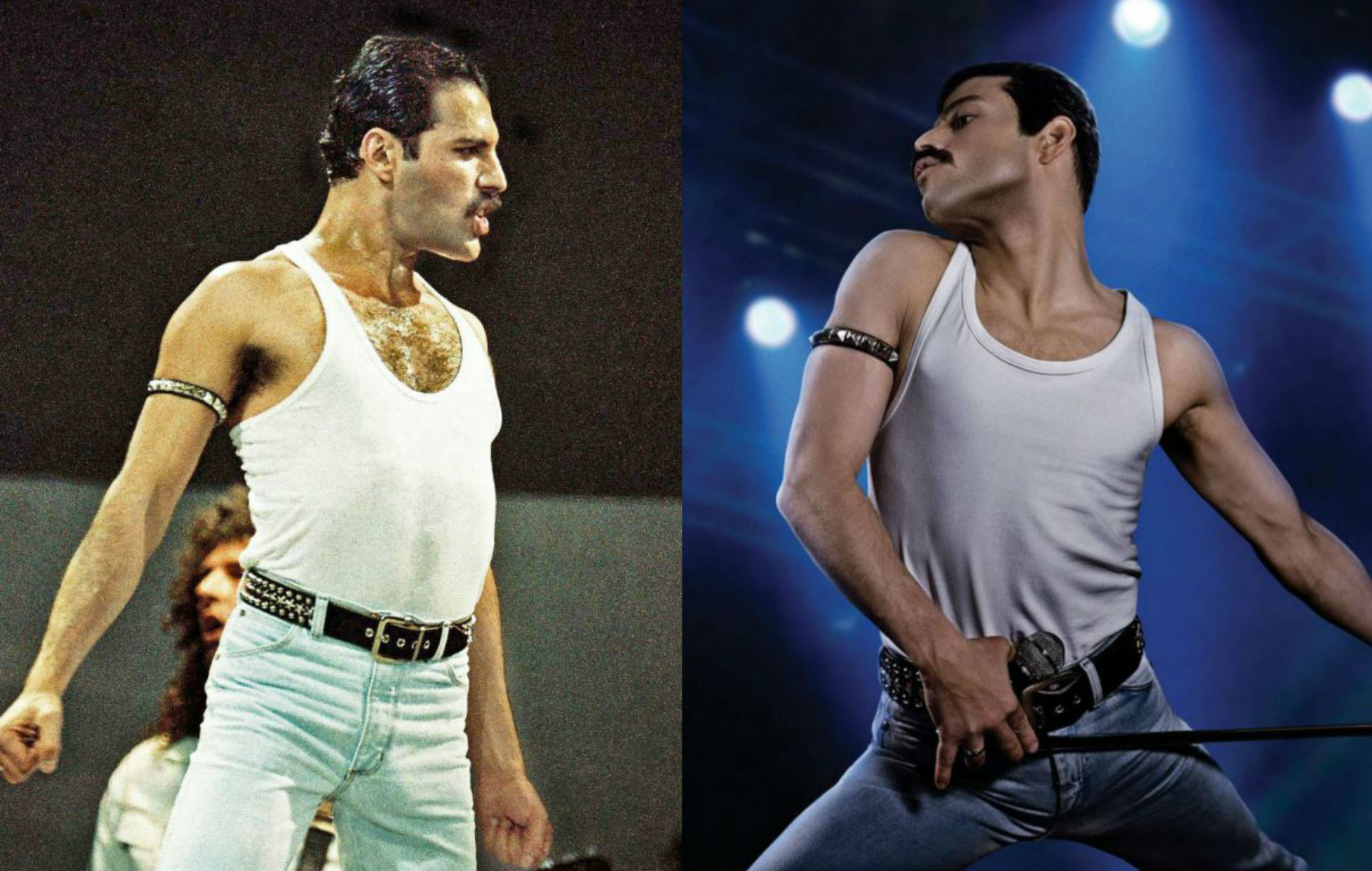 viral video shows how closely rami malek mimics freddie mercury s live aid performance in bohemian rhapsody closely rami malek mimics freddie