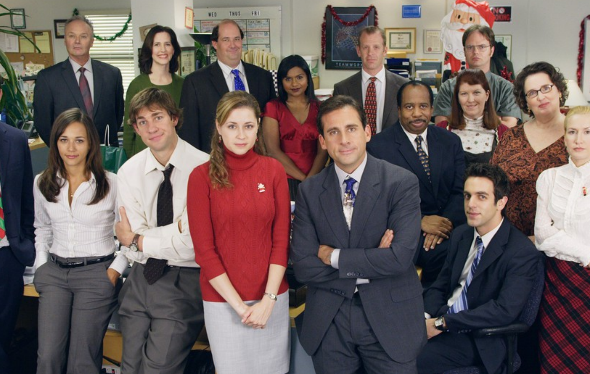John Krasinski reunites with 'The Office' cast to do show's wedding dance