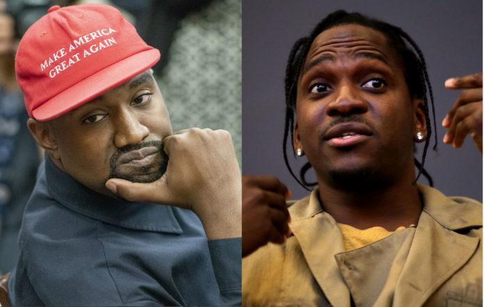Pusha T Kanye West not wearing MAGA hat