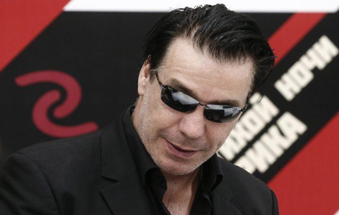 Till Lindemann, frontman of the German band Rammstein