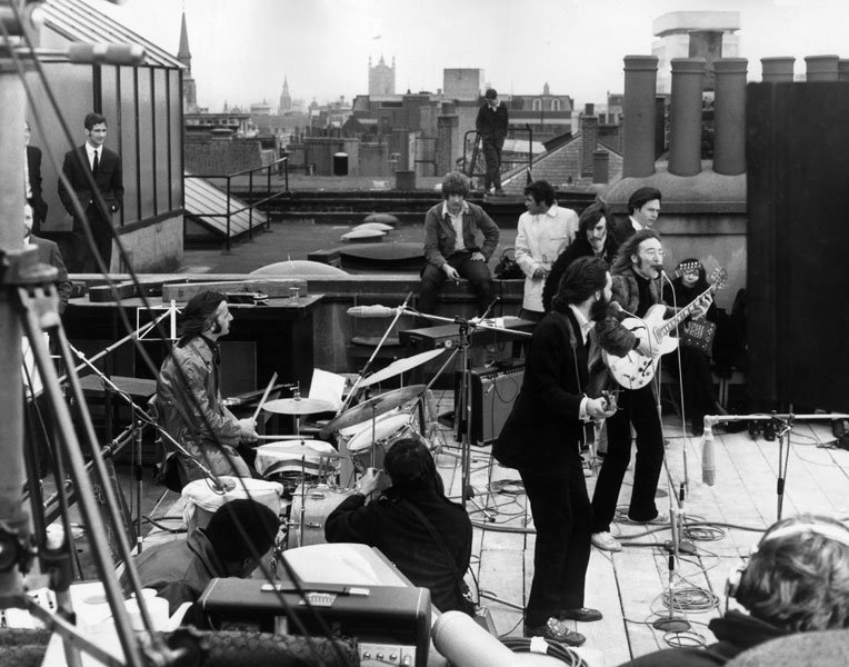 The Beatles' final gig on the Apple rooftop