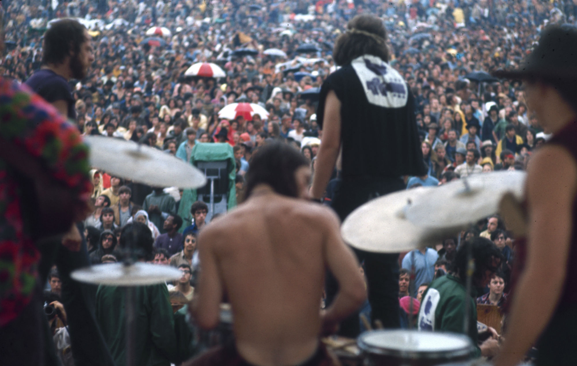 Country Joe & The Fish perform at Woodstock