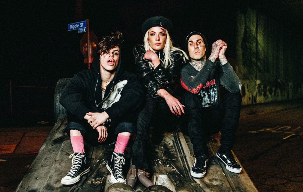 Yungblud, Halsey and Travis Barker