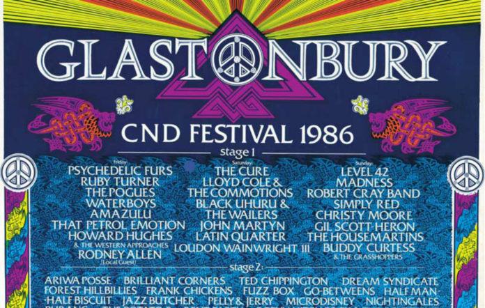 The 1986 Glastonbury poster