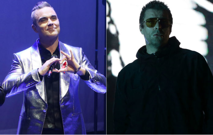 Robbie Williams and Liam Gallagher have reignited their feud