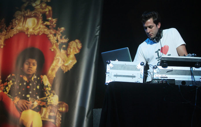 Mark Ronson DJs at a Michael Jackson event