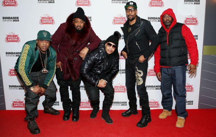 Rappers Cappadonna, Ghostface Killah, U-God, Rza, and Masta Killa of the Wu-Tang Clan