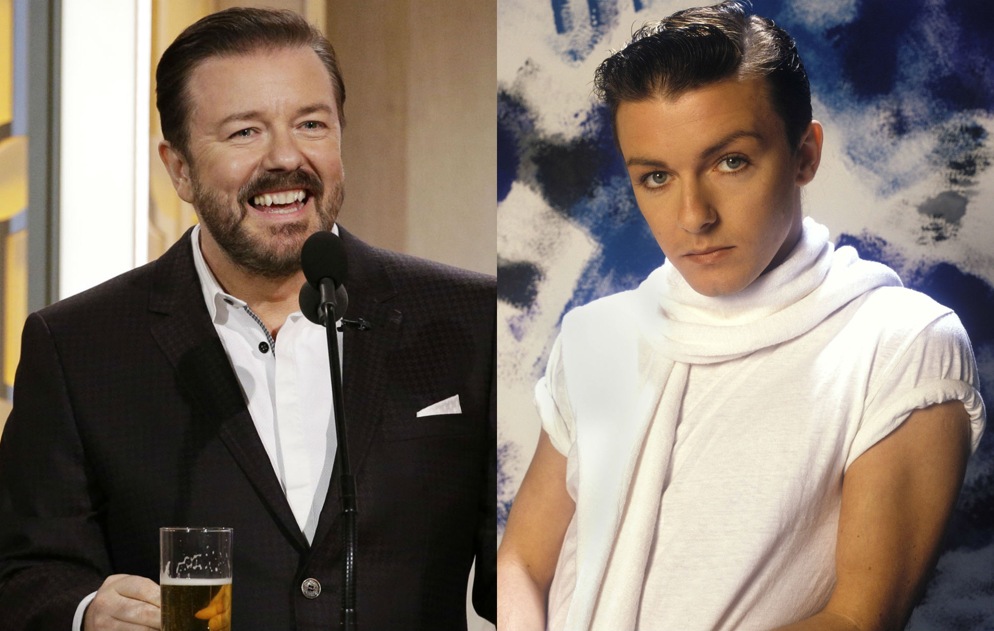 Ricky Gervais, today and in 1983