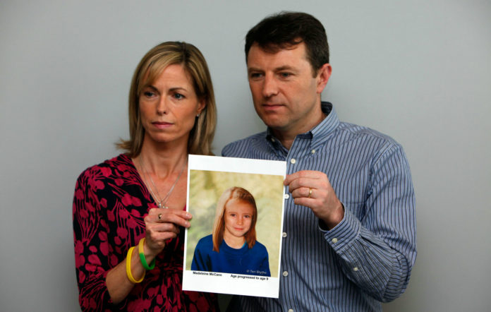 The parents of missing girl Madeleine McCann, Kate and Gerry McCann