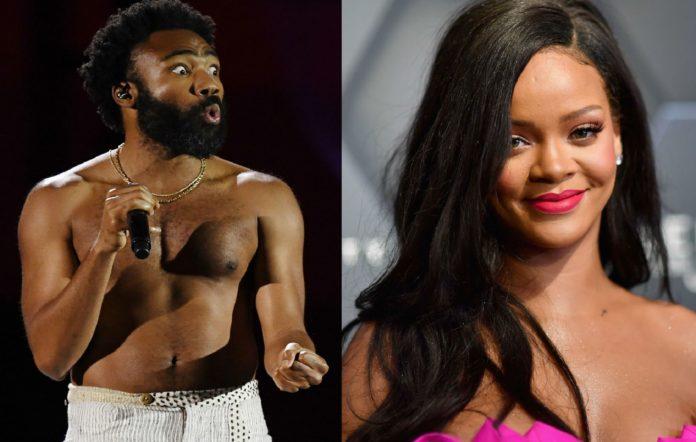 Donald Glover and Rihanna