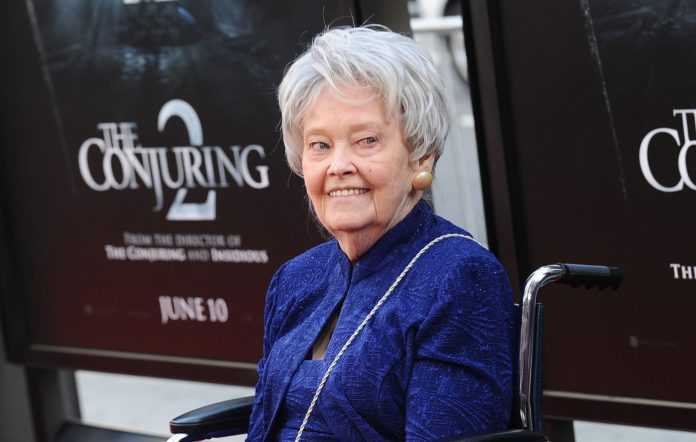 Author/paranormal investigator Lorraine Warren at the premiere of 'The Conjuring 2' in 2016