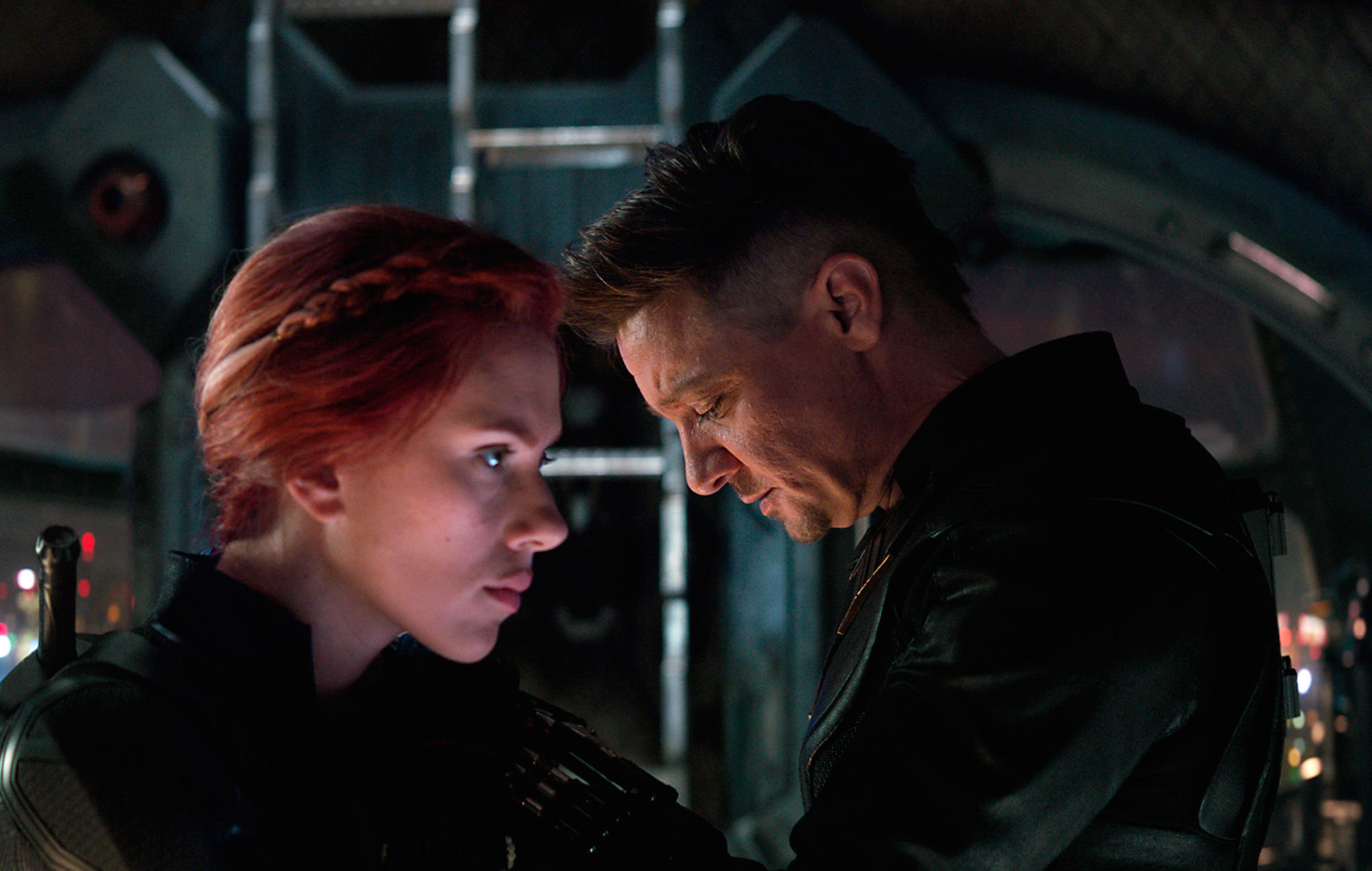T5PAG9 Avengers Endgame 2019 Real Anthony Russo et Joe Russo Scarlett Johansson Jeremy Renner. Collection Christophel © Marvel Studios