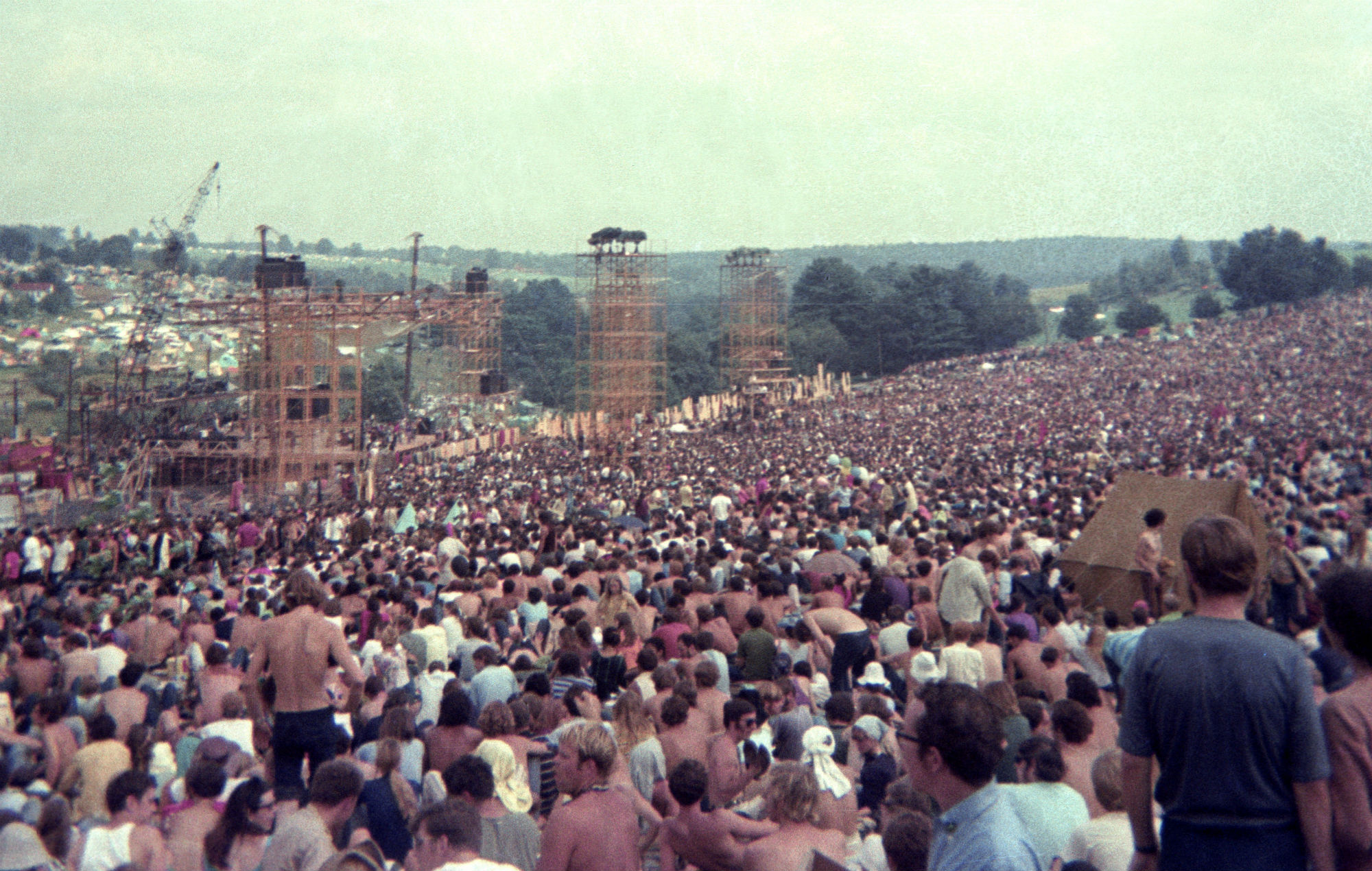 Woodstock, 1969. Credit: Getty