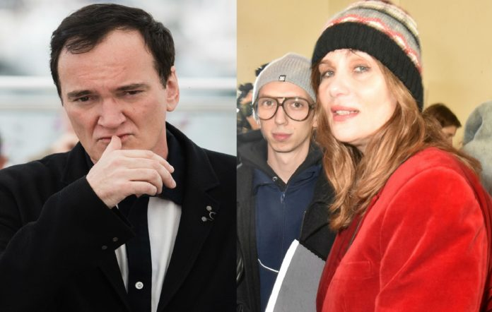 Quentin Tarantino and Emmanuelle Seignier