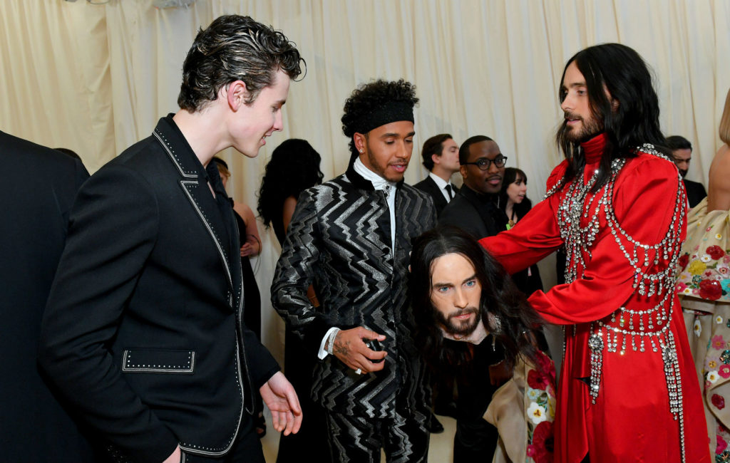 Shawn Mendes, Lewis Hamilton and Jared Leto