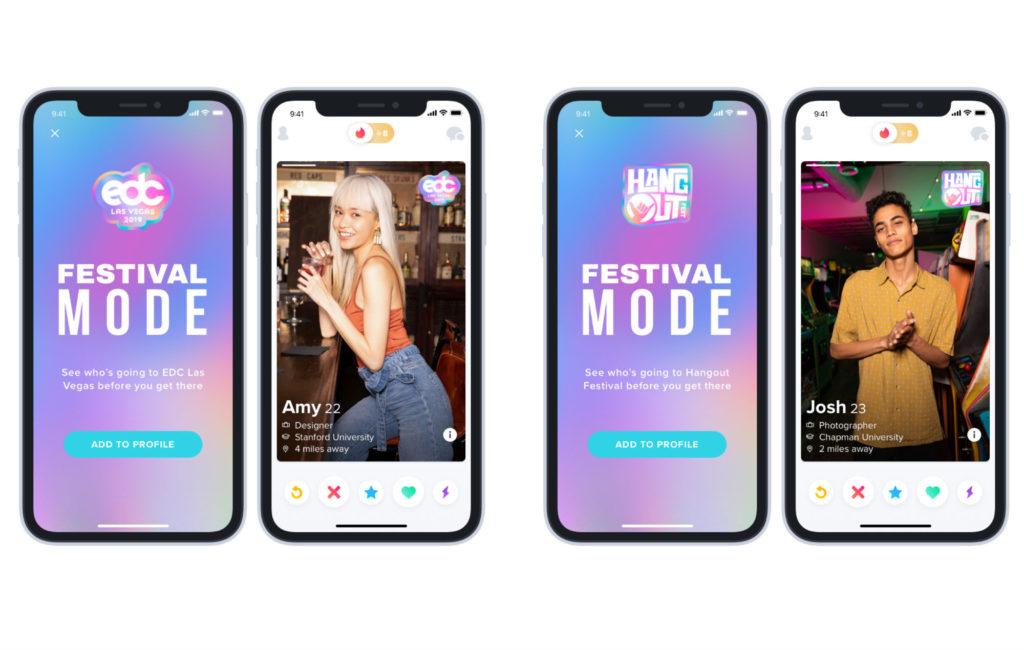 Tinder's 'Festival Mode'