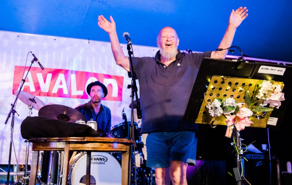 Michael Eavis performs at Glastonbury 2019