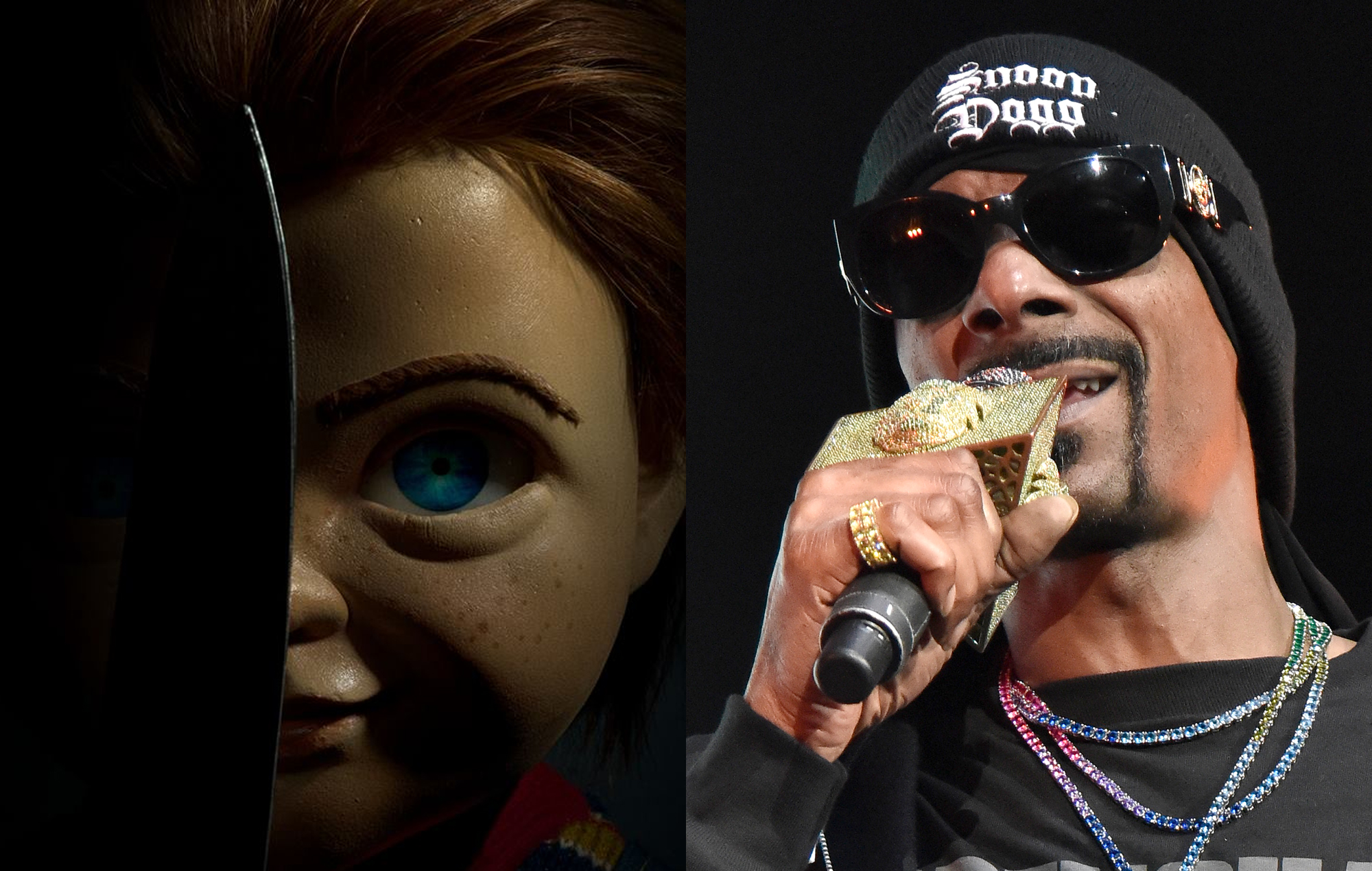 Chucky in 'Child's Play' and Snoop Dogg
