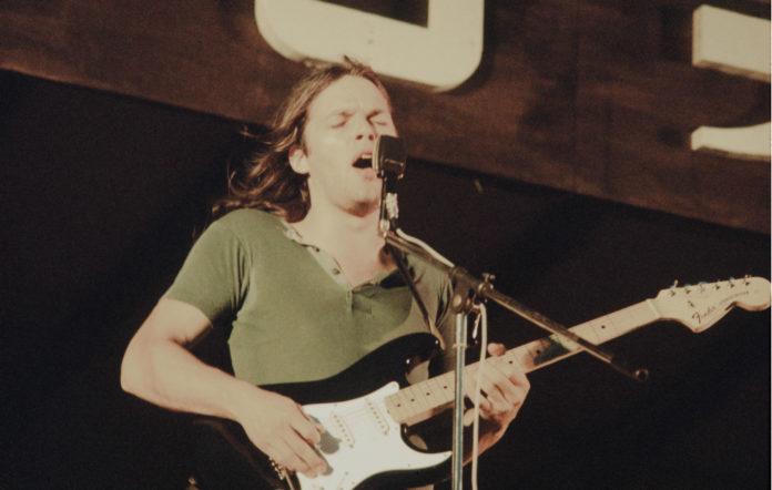 David Gilmour Pink Floyd playing at Hakone Aphrodite, Kanagawa, August 6, 1971