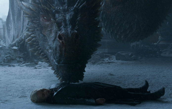 Drogon approaches Dany after she is stabbed by Jon Snow in 'Game of Thrones'