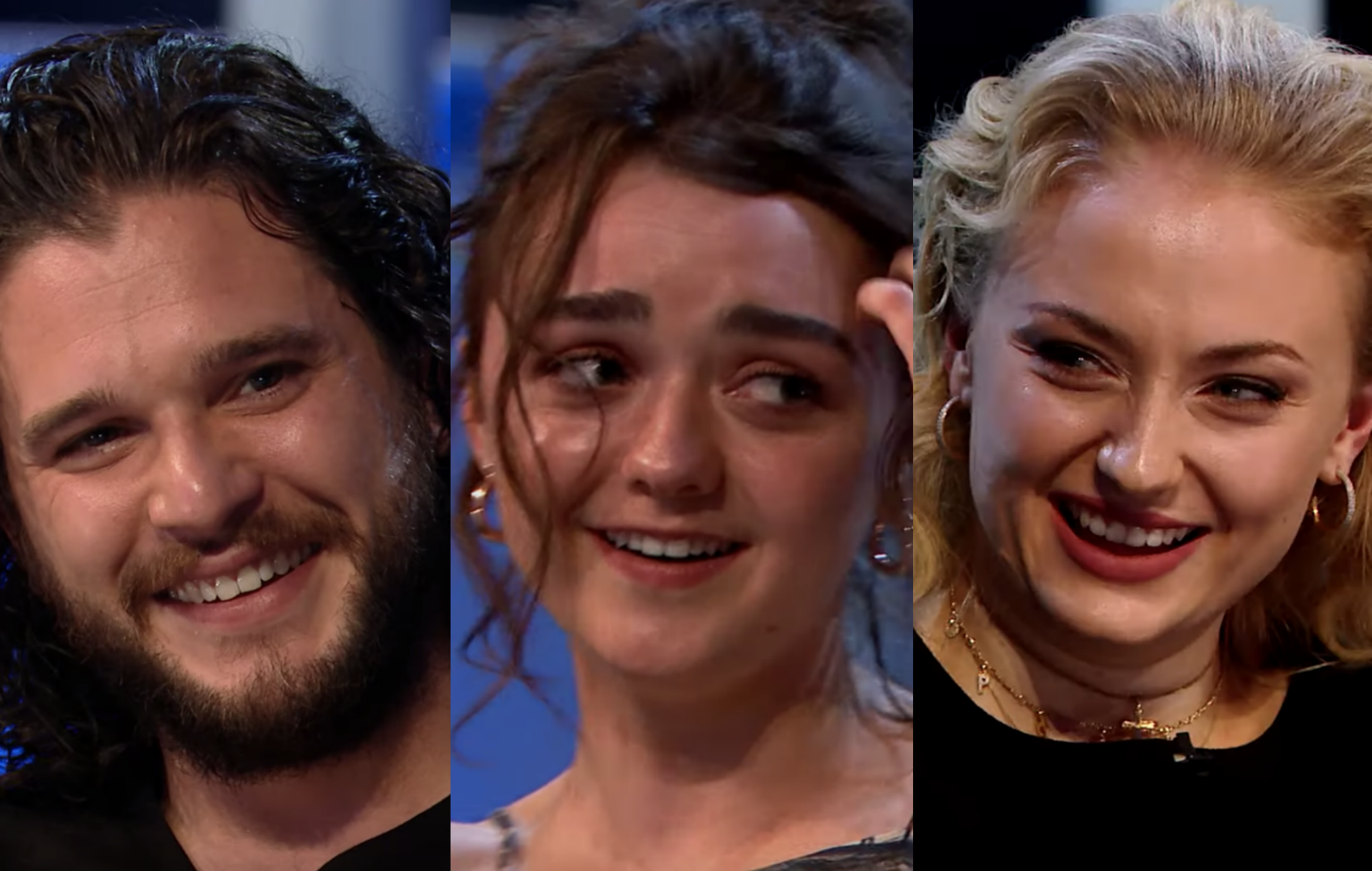 Kit Harington / Maisie Williams / Sophie Turner in the 'Game of Thrones' cast reunion special