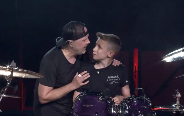 Lars Ulrich and Evan Adamson