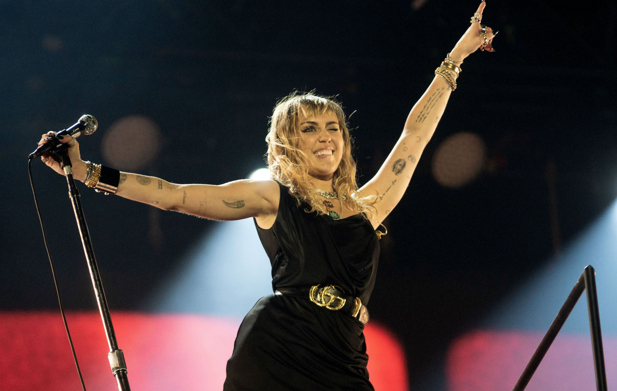 Miley Cyrus performs at Radio 1'as Big Weekend
