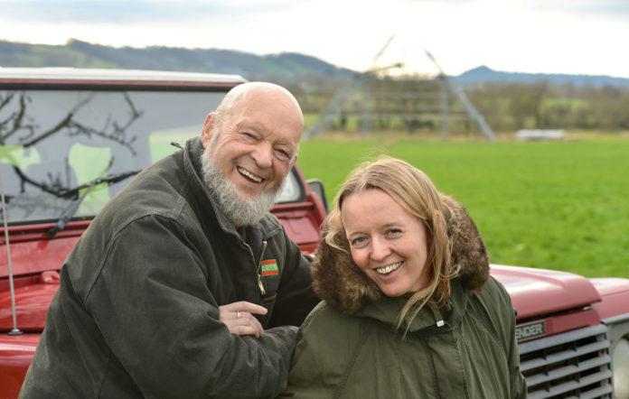 Glastonbury Emily and Michael Eavis