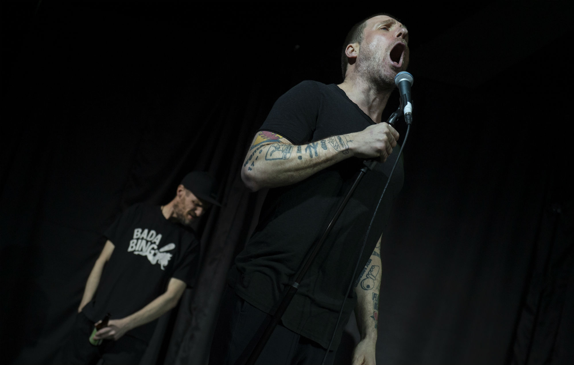 Sleaford Mods with Jason Williamson and Andrew Fearn perform at the Academy on March 15,, 2019 in Manchester, United Kingdom