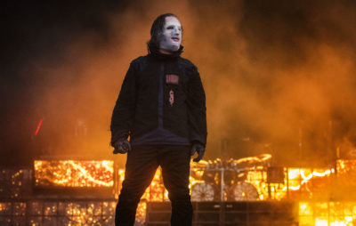 Corey Taylor of Slipknot performs on stage on day 2 of Download Festival 2019 at Donington Park on June 15, 2019 in Castle Donington, England