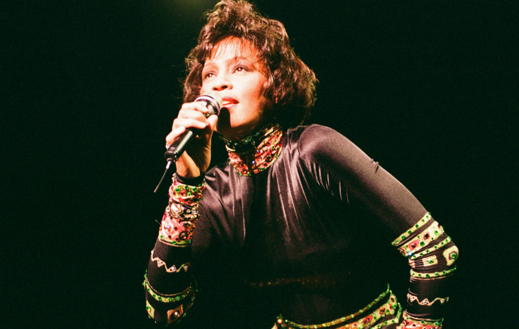 Whitney Houston in Concert at Earls Court Exhibition Centre, London, 5th November 1993. The Bodyguard World Tour 1993