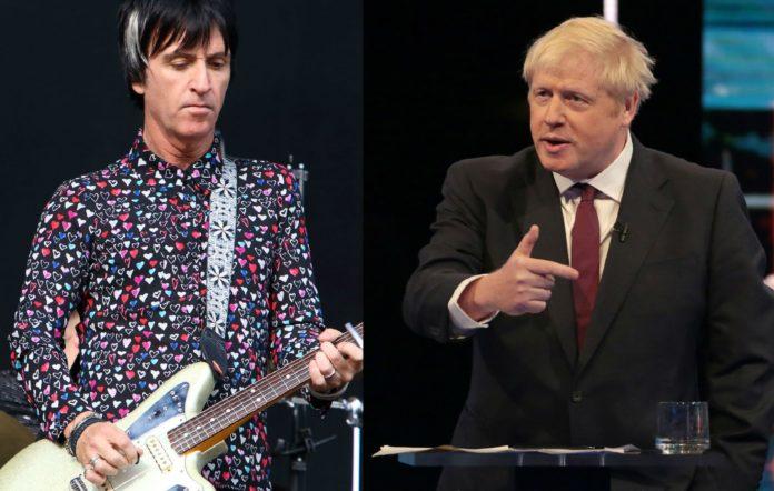 Johnny Marr and Boris Johnson