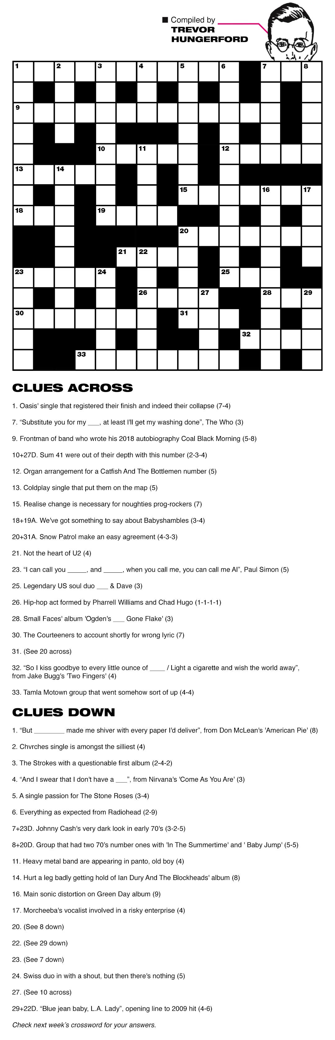 NME crossword week 13