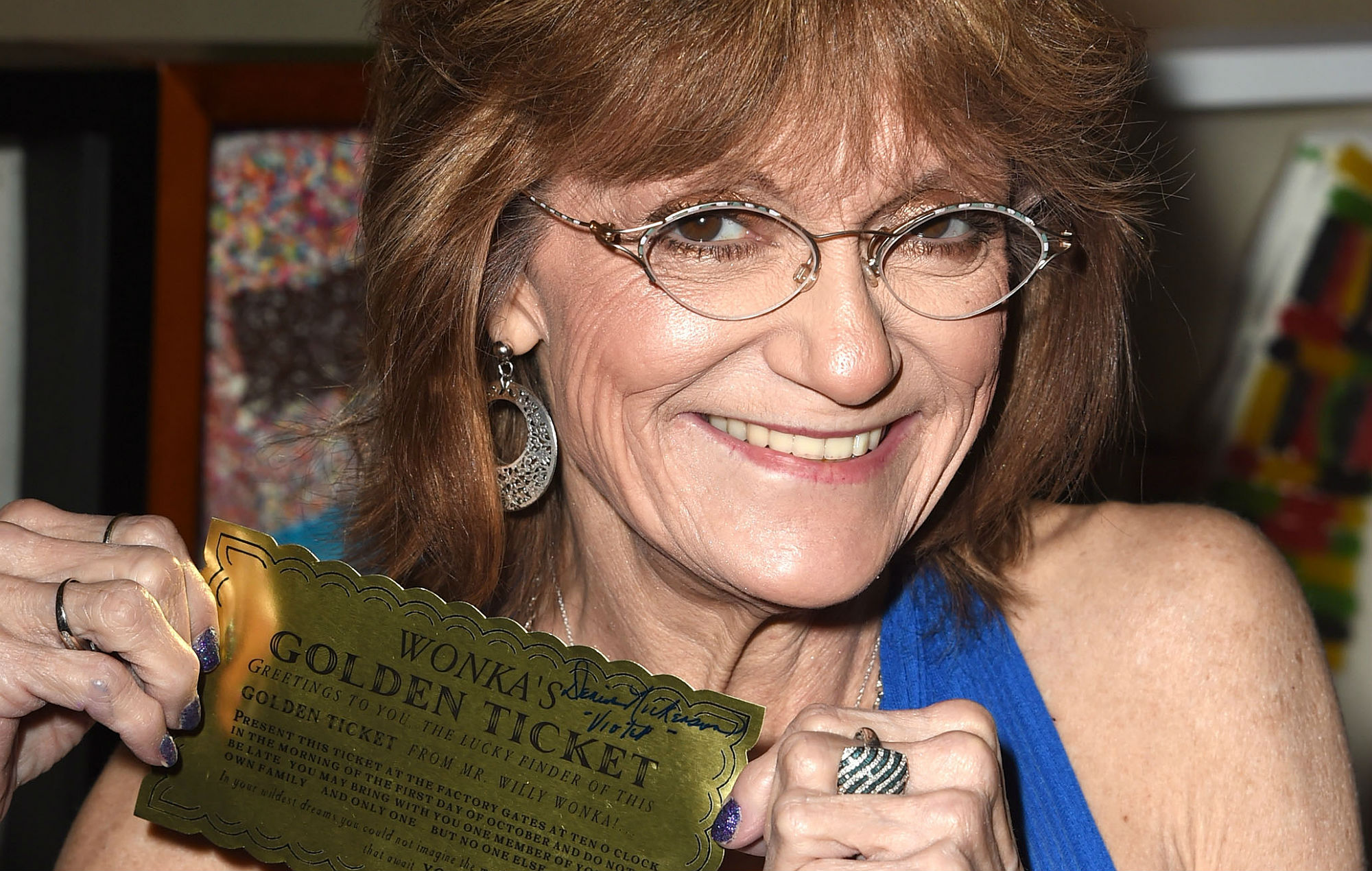 Denise Nickerson Poses at The Hollywood Show - Day 2 at Westin Los Angeles Airport