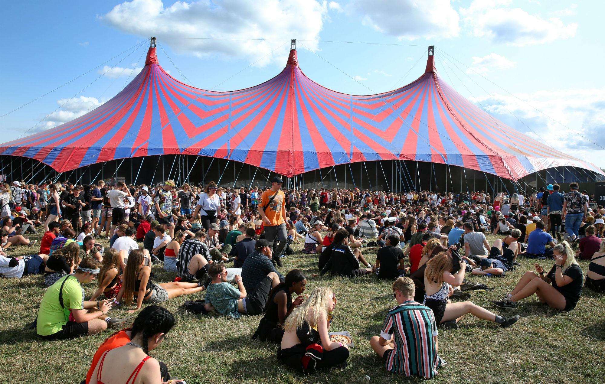 Reading Festival crash barrier